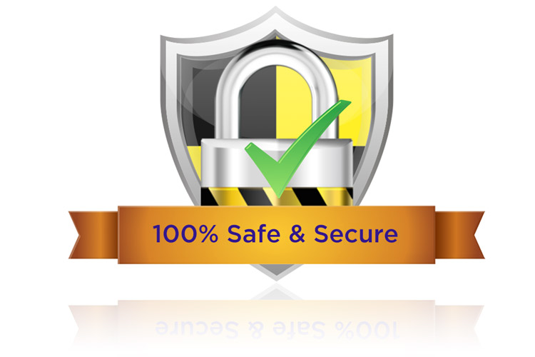 Safe & Secure with SSL & Trusted payment gateway