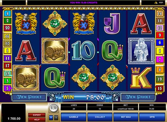 Play Avalon 20 line online pokie