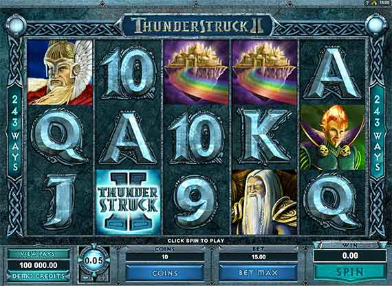 ThunderStruck ll - Microgaming 243 ways - Play Online Now