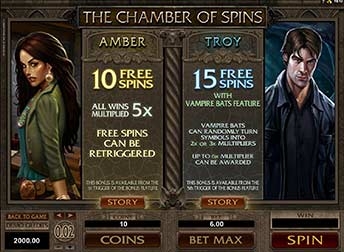 Chamber of Spins 10 & 15 Free Spins