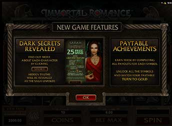 immortal romance new feature