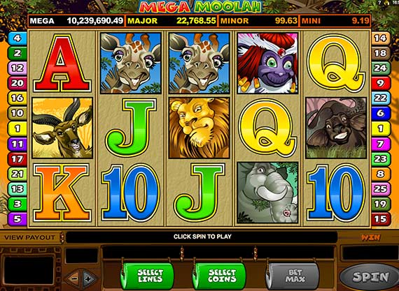 Play Mega Moolah Free and for Real Money at Ruby Fortune